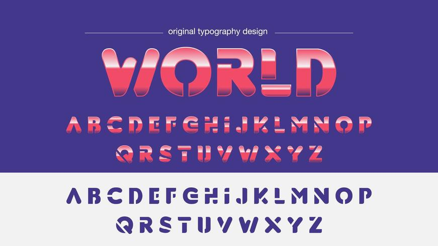 Typographie abstraite rose chrome