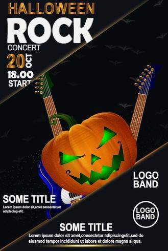 Halloween-Felsen-Plakat