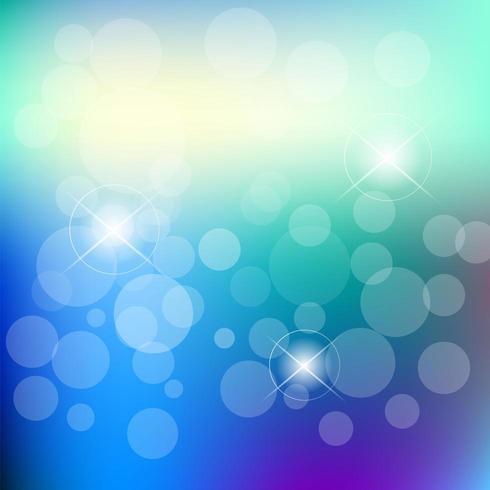 Resumen desenfoque bokeh sobre un fondo azul vector