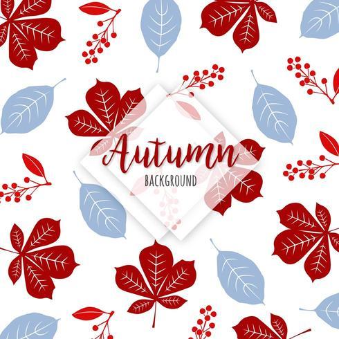 Bello fondo variopinto delle foglie di autunno