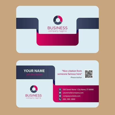 Modern Colorful Business Card vector