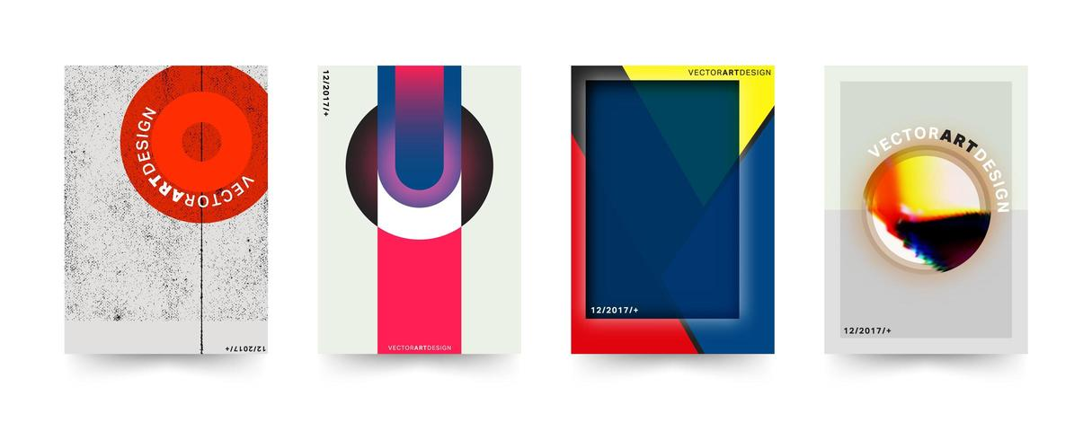 Eclectic Brochure cover template set vector