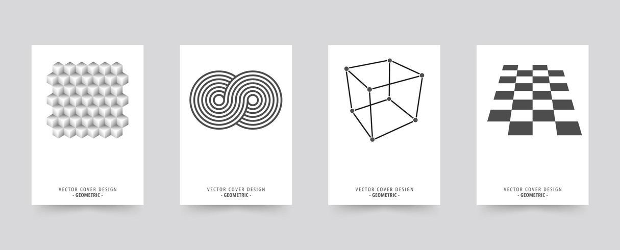White Brochure cover template set vector