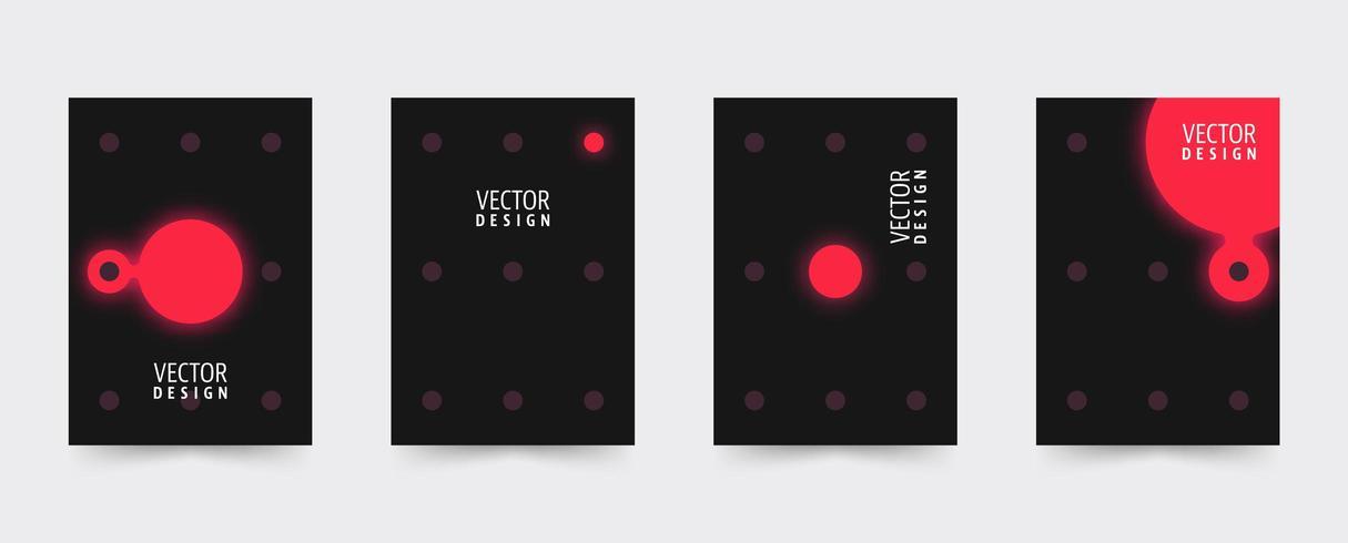 Conjunto de plantillas de portada de folleto oscuro vector