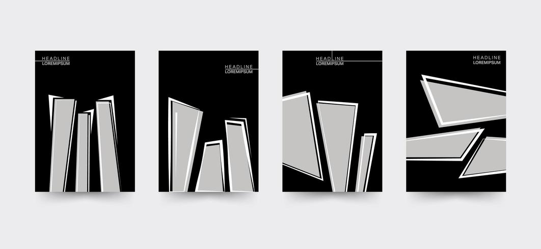 Edgy Brochure cover template set vector