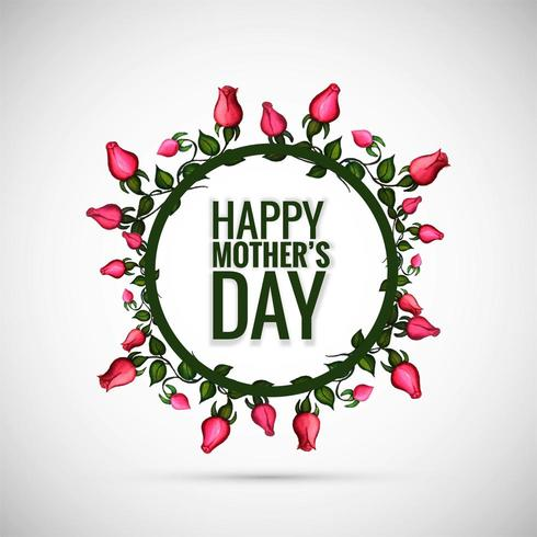 Beautiful Happy Mother's day with floral background vector
