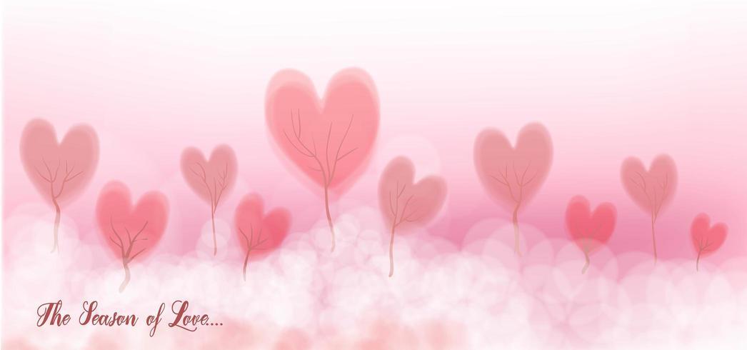 Fondo de corazón de amor vector