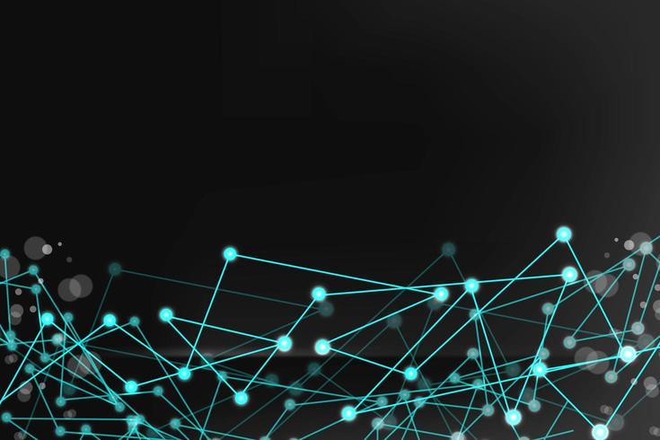 Fondo de líneas y puntos de conexión tecnológica abstracta vector