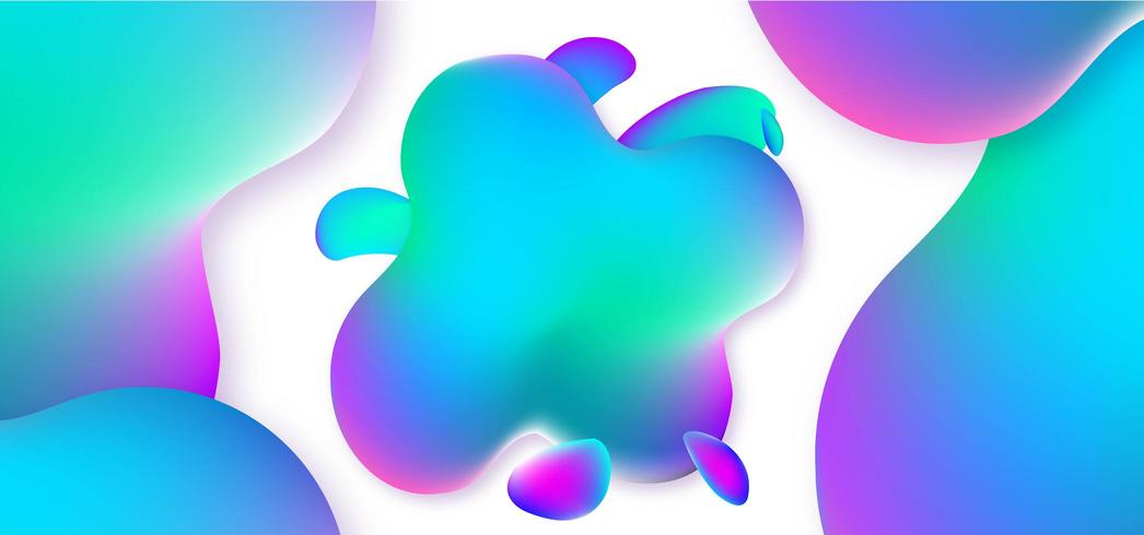 Modern Abstract Fluid Background vector