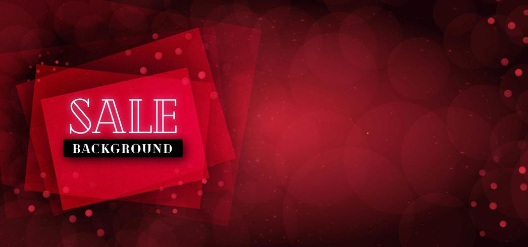 Red Sale Banner Background vector