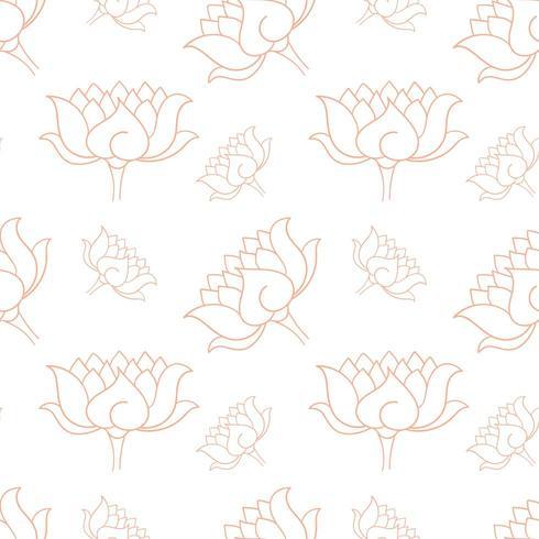 Patron inconsútil botanico dibujado a mano