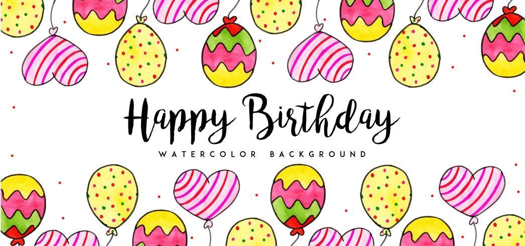 Aquarell Geburtstag Hintergrund
