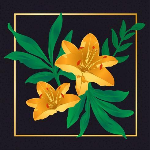 Hermosa flor amarilla vector