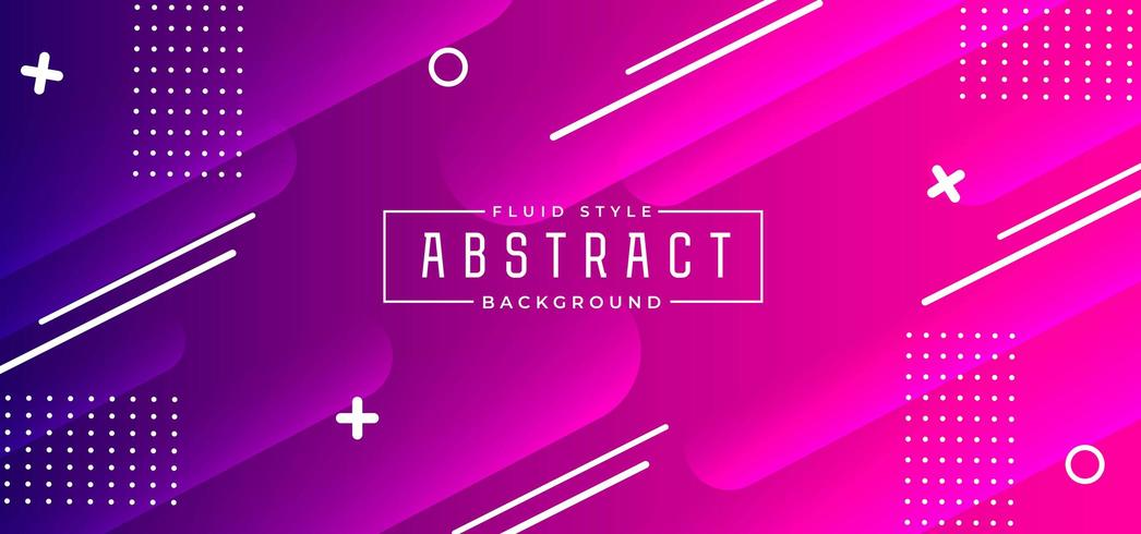 Purple and Pink Gradient Background With Geometric Shapes