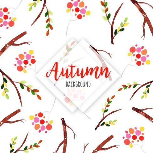Motif de fond de branches d'automne