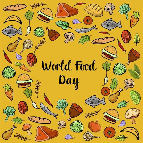 World Food Day With Colorfull  Vegetables