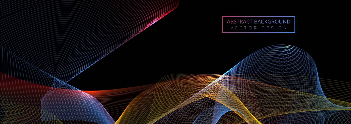 Beautiful shiny colorful wave banner template  vector