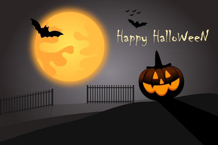 Glad Halloween-vektorbakgrund