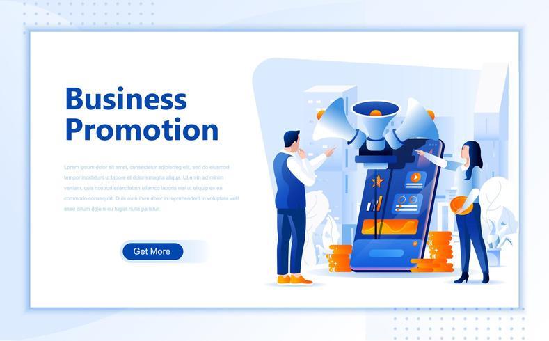 Modello di pagina di destinazione web piatta promozione aziendale