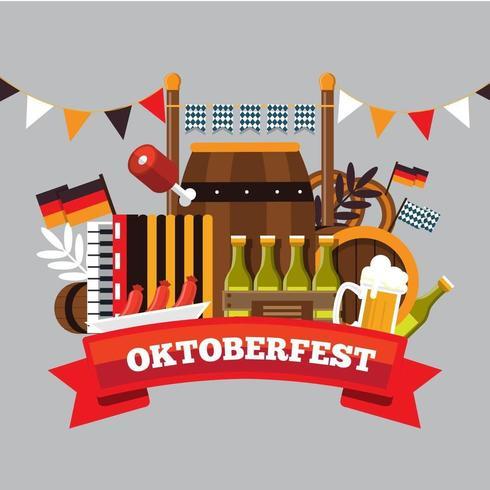 Oktober Bier Fest vektor