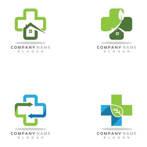 Ilustración de vector de plantilla de logotipo médico de salud
