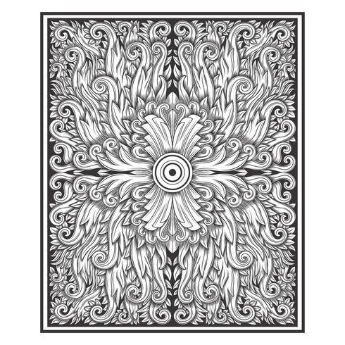 Teste padrão floral do damasco cinzelado madeira do efeito do vintage