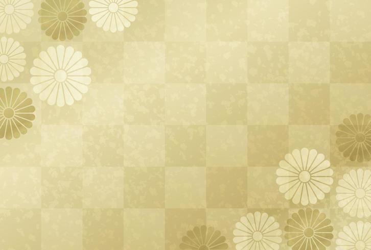 Tarjeta de oro japonesa de año nuevo vector