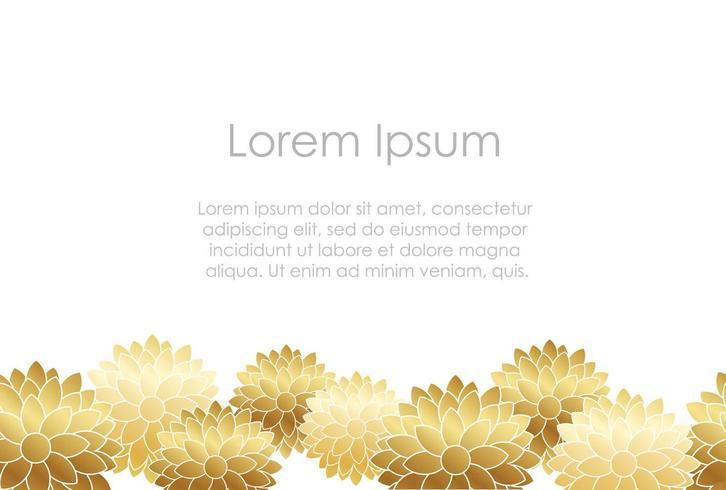 Modèle de fleur or carte de nouvel an japonais.