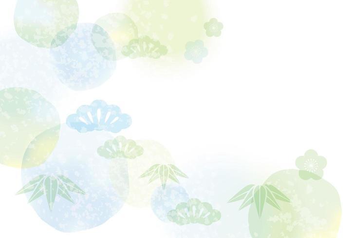 Modèle de carte japonaise avec aquarelle abstraite.