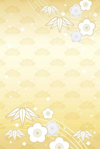 Japans Nieuwjaar kaartsjabloon.