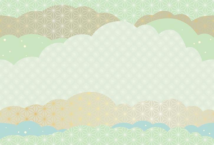 Tarjeta de corte de papel japonés sin costura