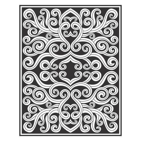 Padrão de desenho de videira ornamentado de linha limpa