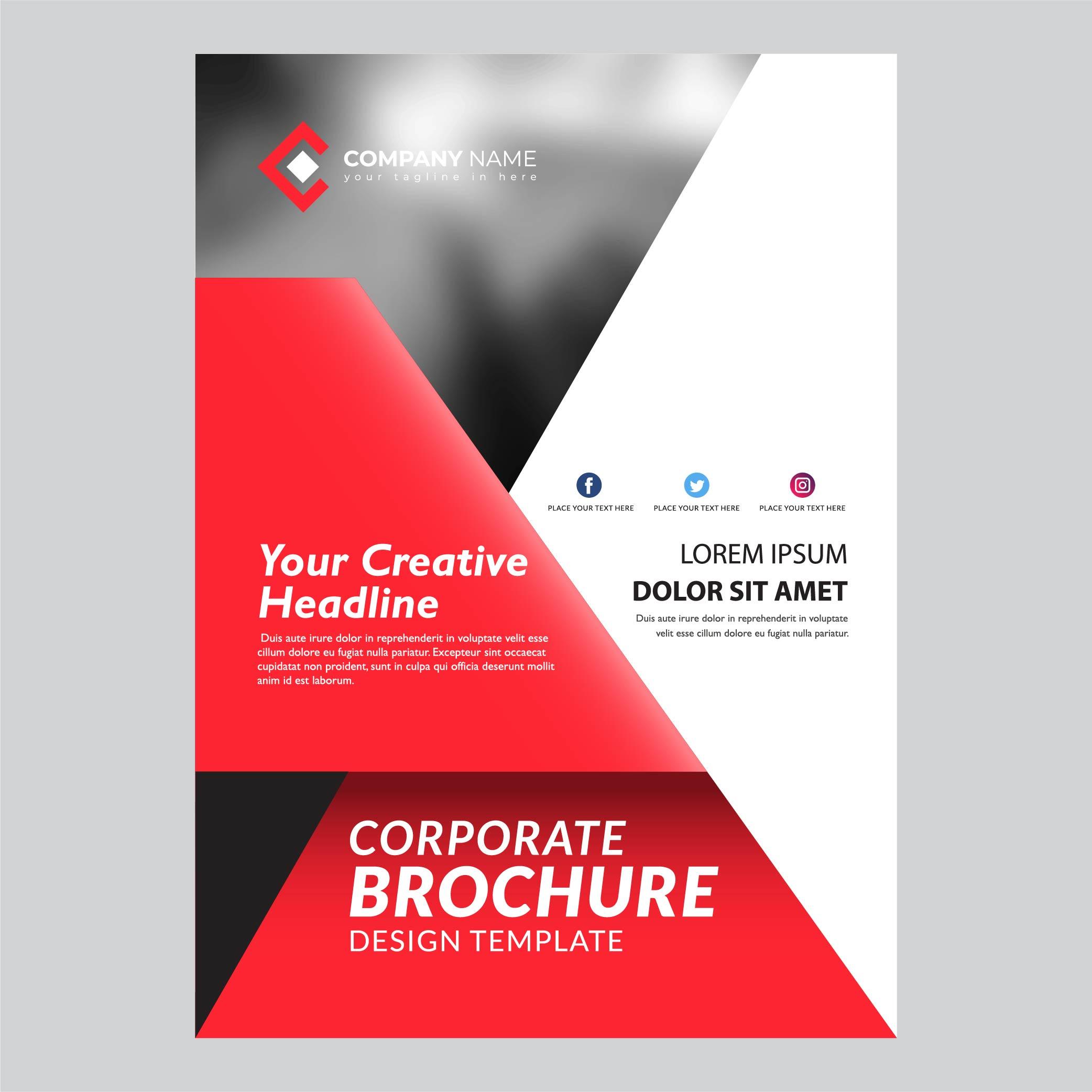 Red Modern Flyer Template Design   Download Free Vectors ...