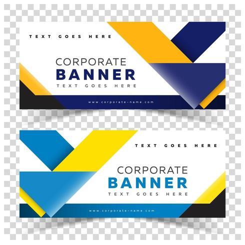 Business Banner Web mit gelben und blauen Formen