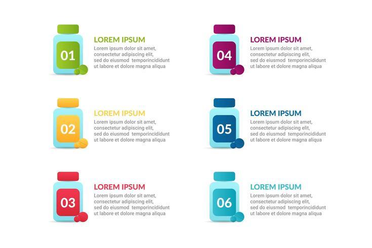 Diseño de infografía médica con opciones o lista