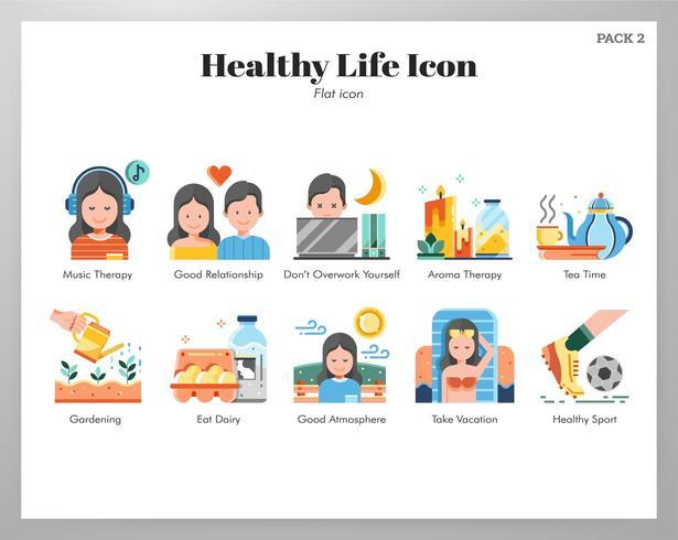 Sunt liv ikoner platt paket