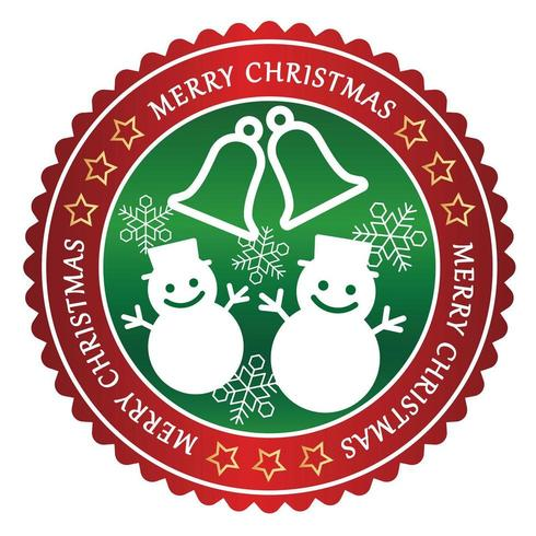 Christmas badge on a white background.