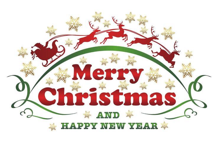 Rótulo de Natal em um fundo branco.
