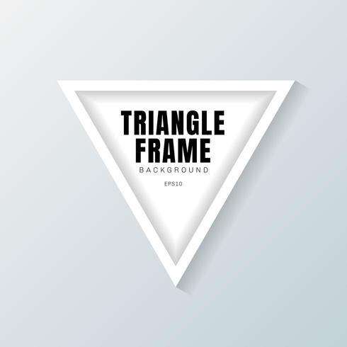 driehoek frame mockup op grijze achtergrond vector