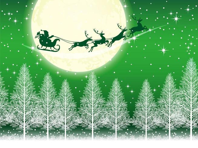Seamless Christmas background with Santa Claus  vector