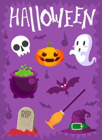 Diseño de conjunto de vectores de Halloween
