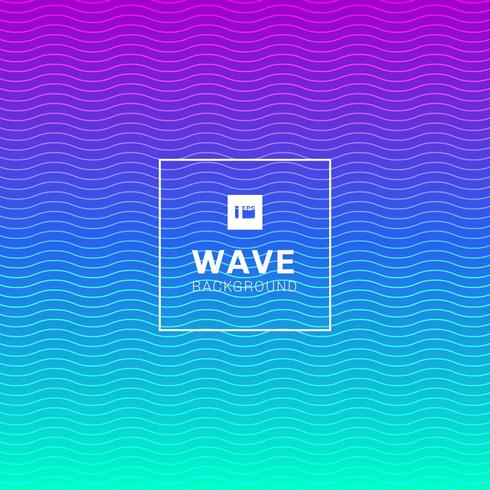 wavy wave lines pattern on vibrant color background vector