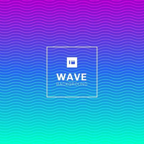 Wellenlinien Muster auf lebendige Farbe Hintergrund