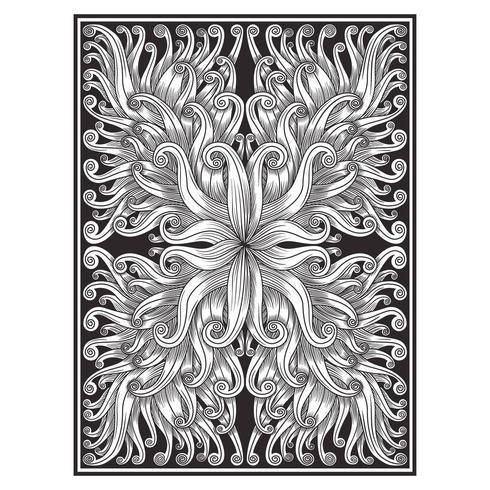 Overladen abstract bladeren en plantenpatroon