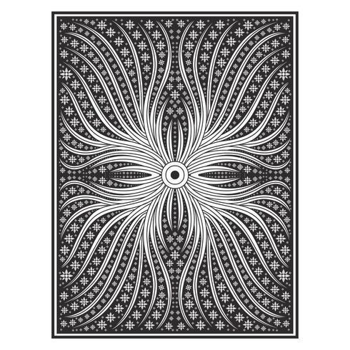 Motif de lignes botaniques abstraites