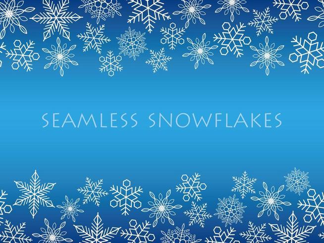 Fondo de invierno con copos de nieve