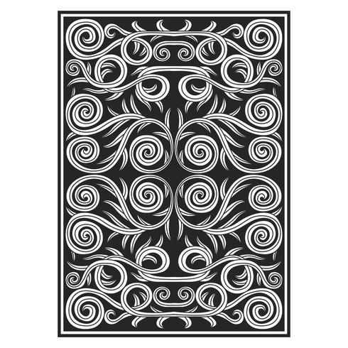 Motif botanique abstrait symétrique orné