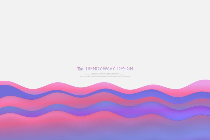 Modello di onde gradiente colorato fluido astratto ampio schermo