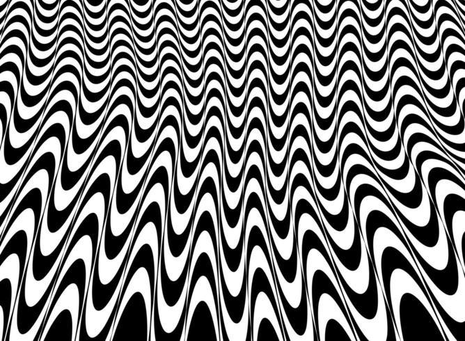 Résumé du motif de maillage noir et blanc de l'art op