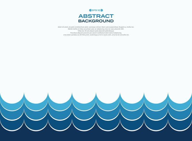 Abstract minimalistisch blauw watergolfpatroon